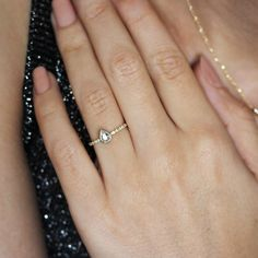 Simple Pear Cut Diamonds Engagement Ring ~ LOVE ~ by silly shiny diamonds !