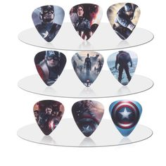 [Visit to Buy] SOACH 50pcs guitar pick Sided printing plastic Guitarra Picks Thickness 1.0mm String instrument accessories #Advertisement