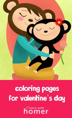 Free Valentines Day coloring pages!