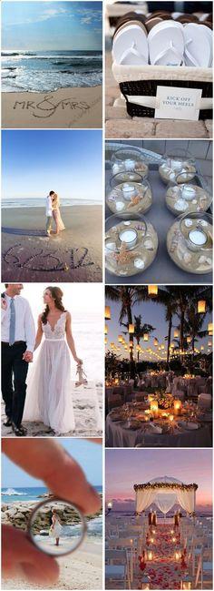 Beach Weddings » 25 Dreamy and Creative Beach Wedding Ideas! » ❤️ See more: www.weddinginclud...