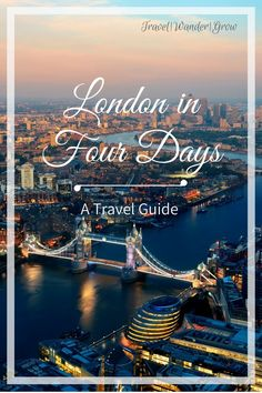 London is a city rich in history and full of vacationer-friendly activities. It is an extremely popular travel destination, demonstrated by the fact that it was the #2 most visited city in the WORLD in 2017. So chances are, if you haven't already visited London, it's at least crossed your mind. This short travel guide will provide an overview of all you should do to see London in 4 days. #londonitinerary #londontravelguide #london #travel