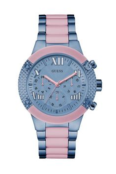 7603e8c918d6 Pink and Blue Show-Stopping Sport Watch | GUESS.com