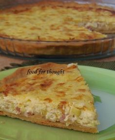 Food for thought: Τάρτες Quiche Recipes, Cookbook Recipes, Cooking Recipes, Greek Recipes, Desert Recipes, Bacon Pie, Happy Foods, Food For Thought, Finger Foods