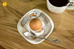 Porzellan Eierbecher ♥ Vogel Adler für Ihn von stiftengehen auf DaWanda.com