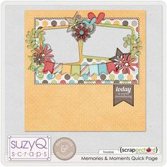 free scrapbook quick pages | Free quick page with Memories & Moments | Digital Scrapbook Freebies ...