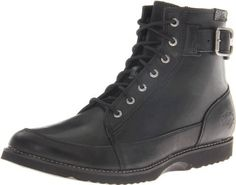 """Harley-Davidson Men's Bryce Motorcycle Boot Harley-Davidson. $75.99. Lightweight outsole. Full length cushion sock lining. Shaft height: 5.5"""", Heel height: 1"""". Rubber sole. leather. Cement construction. Full grain leather upper"""