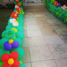 Detalhes jardim de balões
