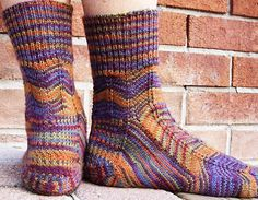 Socks with a heel that can be reknit easily if it wears out!