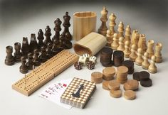 Masterpiece Transitional Carved Wood Game Pieces