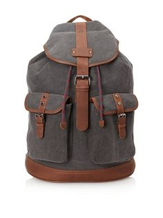 Ted Baker Men's Newname Canvas and Leather Trim Rucksack at MYHABIT