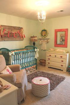 Love this nursery...such cute colors!
