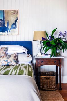 Take a tour of a once cramped and rundown Queenslander renovated into a grand open-plan family home. Decor, Country Style Bedroom, Bedroom Decor Design, Modern Bedroom Design, Home, Diy Bedroom Decor, Home Bedroom, Marble Bedside Tables, Home Decor