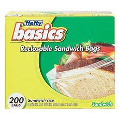 Hefty® basics® Sandwich Bags, 200-Count at Big Lots.