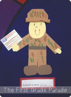 The First Grade Parade: Writing to Inform and Veteran's Day