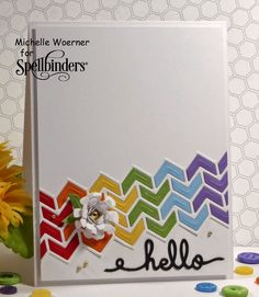 Stop and Stamp the roses: Chevron border hello