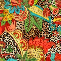 I uploaded new artwork to plout-gallery.artistwebsites.com! - 'Floral Leopard-jp3731' - http://plout-gallery.artistwebsites.com/featured/floral-leopard-jp3731-jean-plout.html