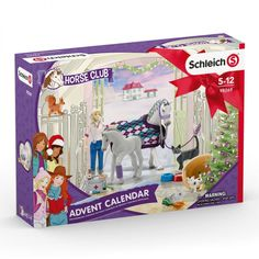 Schleich Adventskalender Horse Club 98269 Adult Advent Calendar, Advent Calendars For Kids, Big Horses, Show Horses, Christmas Craft Projects, Christmas Themes, Figurine Schleich, Advent For Kids, Black And White Kittens