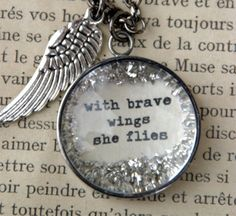 Love this pendant! With brave wings she flies