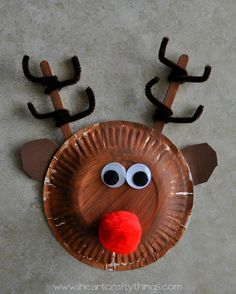I HEART CRAFTY THINGS: Paper Plate Rudolph Reindeer