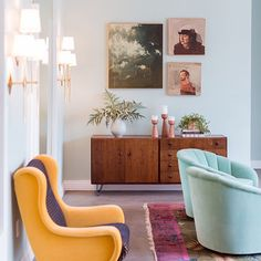 Scrolling through old photos and I'm  reminded of how much I'd like those mint chairs from @thefighouse to be my chairs. Also those paintings by @KaiSamuelsDavis. Also I'll take back my deco rug now please (from @Bettemidler's estate).  @purephoto @mpkelleydotcom @ryanphillipsphoto