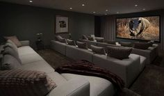 home Movie Room – Home Theater Ideas to Make a Cozy Heaven in Your Basement…. home Movie Room – Home Theater Ideas to Make a Cozy Heaven in Your Basement… Movie Theater Rooms, Home Cinema Room, Home Theater Seating, Home Theater Design, Theater Seats, Dream Theater, Luxury Movie Theater, Home Theatre, Theatre Rooms