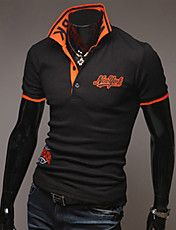 Unique Collar Embroidery Polo Shirt – GBP £ 13.57