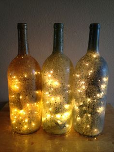 Decorative Light Up Wine Bottle For Home Accents   Light Up Wine Bottles  Lightup Wine Bottle