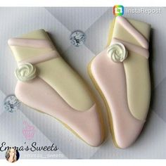 Gorgeous ballet slippers cookies by emmassweets