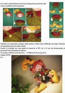 Coisinhas de Pano: Bonecos country moldes