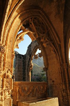 """""""With its mountain setting, Gothic archways and sense of tranquillity, Bellapais Abbey is truly enchanting."""" North Cyprus: the Bradt Guide; www.bradtguides.com"""