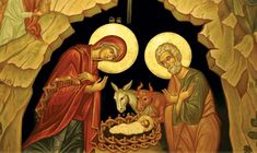 Orthodox icon of the Nativity of our Lord