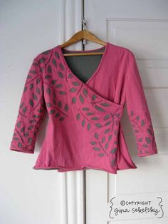 reverse applique pink wrap by gina sekelsky studio