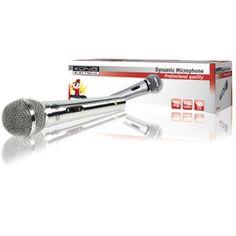 Micrófono dinámico de metal color plata KN-MIC45 Microfonos inalambricos / con cable PC Imagine #microfono