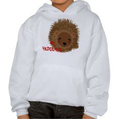 A great tee shirt design such fun and so cute a little spiky hedgehog. A favorite with kids and the young at heart.
