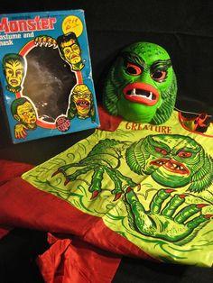 Creature Lagoon Ben Cooper in Box Vintage Famous Monsters Halloween Costume | eBay
