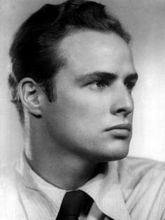 Marlon Brando in the 1940s--strong face.