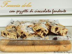 Focaccia dolce con pezzetti di cioccolato fondente