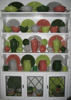 Mallory Hill Designs: Collections on display - Fiestaware❤❤❤