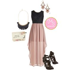 In this outfit: Grand Surprise Winner Dress, Neutral Luminance Earrings, Dazzling Dame Necklace, Through the Post Clutch, All You Need is Luxe Heel