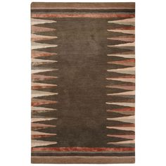 Jaipur Living Nikki Chu Contemporary Tribal Pattern Gray/ Wool and Area Rug