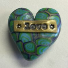Pocket secret polymer clay heart by Nee Nee Ree * love *