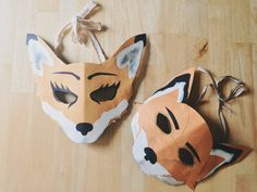 Mr and Ms Fox masks