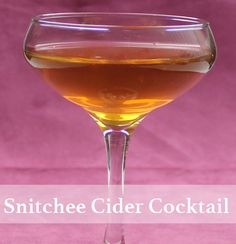 A recipe for Snitchee's Cider, a drink featuring apple cider with spiced rum and a cinnamon stick. Apple Cider Drink, Spiced Apple Cider, Spiced Rum, Cider Cocktails, Cocktail Drinks, Alcoholic Drinks, Beverages, Breakfast Dessert, Dessert For Dinner