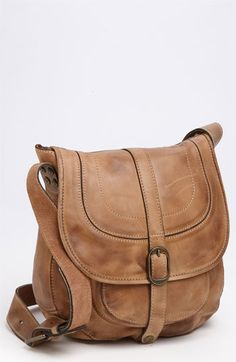 "Barcelona Saddle Bag ""Oil Rub Brown""  The front pocket in this bag is perfect for concealed carry."