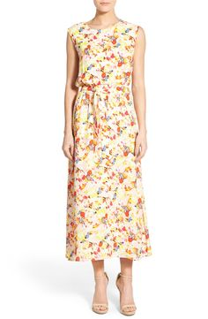 Chaus 'Bouquet Medley' Print Crepe Maxi Dress