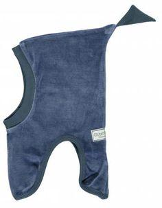 Okker-Gokker blå velour elefanthue