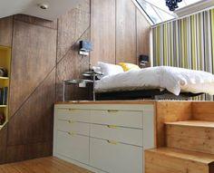 kleines schlafzimmer einrichten funktionale lösung große schubladen