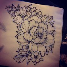 Available april bookings < span>< span>< span> design drawing peony flowers girlytattoo ink tattoo customtattoo Tatoo Flowers, Peony Flower Tattoos, Flower Tattoo Drawings, Peonies Tattoo, Flower Tattoo Designs, Tattoo Sketches, Stencils Tatuagem, Tattoo Stencils, Fake Tattoo