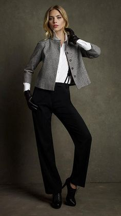 Love this look!  Menswear for Women.