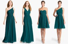 Donna Morgan dresses in 'Victorian Jade' - our new obsession! The Wedding Suite at Nordstrom